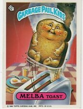 1986 Topps Garbage Pail Kids MELBA TOAST Sticker #143a 4th Series