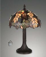 TIFFANY STYLE HANDCRAFTED GLASS TABLE LAMPS MEDIUM SIZE  ( 12 INCHES WIDE )