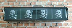 Pottery Barn Halloween Skull & Crossbones Votive Candle Holders Set of 4