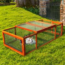New listing Wooden Rabbit Hutch Chicken Coop House Bunny Pet Backyard Run Small Animal