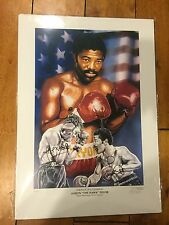 Aaron Pryor Alexis Arguello DUAL Signed Autograph 16.5x23.5 Boxing Lithograph