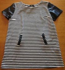 Womens Black and White striped Ice Top