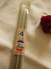 vintage 5 aiguilles n°4  à tricoter ARIEL made in France  20 cm ancienne