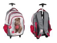 SWEET PUPPY DOG TROLLEY School Bag Backpack on wheels licensed Wheeled Bag