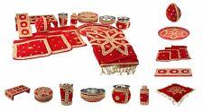 Wedding Set Punjabi Hindu Pooja Red Gold Jardoshi Stone Hindu Indian Shagun Kit