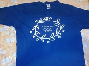 ****ATHENS 2004 OLYMPIC GAMES OFFICIAL T-SHIRT+4 ORIGINAL PINS****