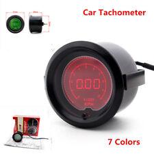 "7 Colors Auto Car SUV Digital Tacho Tachometer Gauge RPM LED Light Meter 2"" 52mm"