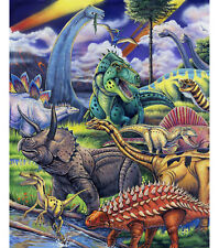 NEW LARGE DINOSAURS T-REX RAPTOR PANEL FOR QUILTS HOME DECOR & OTHER PROJECT