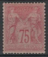 "FRANCE STAMP TIMBRE  81 "" TYPE SAGE 75c ROSE 1885 "" NEUF x TTB SIGNE RARE  M049"