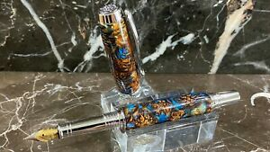 Beautiful Acrylic-Encased Mini-Pinecone Fountain Pen Hand Made by HTC Creations