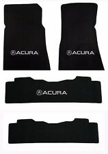 NEW! 2007-2013 Black Carpet Floor Mats Acura MDX Silver Embroidered Logo 4pc set