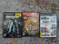 Lot Of 4 PS2 Playstation 2 Video Games Eragon Lego Ford Racing