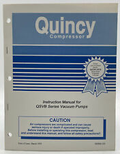 Quincy Instruction Manual Qsvb Series Vacuum Pump Owners Book Guide 935