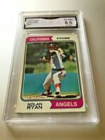 NOLAN RYAN (HOF) 1974 Topps #20 GMA Graded 6.5 EX NM+