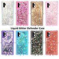 For Samsung Galaxy Note 10/10+Plus Glitter Defender Case Fits with Otterbox Clip