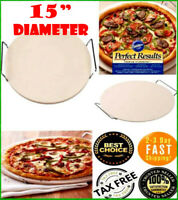 New Pampered Dominos Pizza Stone Baking Round 15 Chef With Metal Serving  Rack