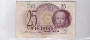 Netherlands 25 Gulden 1945 Meisje in 't Blauw Girl in Blue Note