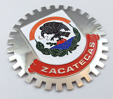 Zacatecas Mexico Grille Badge for car truck grill mount Mexican flag