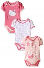 LOT OF 3 HELLO KITTY - Baby Girl's Bodysuit Sleeper Set Pink Pajamas - 18 MONTHS