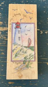 A Friendly Light Lighthouse D. Morgan Stamps Happen Retired Seaside Ships Beach