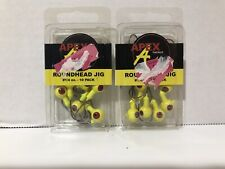 Apex Tackle - Roundhead Jigs - 2 x 10 Pack #1/4 oz  - 20 Total -  New