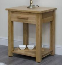 Oak Rectangle Side & End Tables without Assembly Required