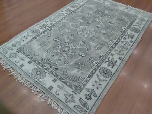5'6'x8' Rug   Modern Luxury Hand Knotted Wool Gray Area Rug