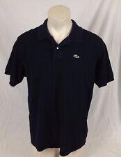 Lacoste Black Golf Shirt 2-Button Crocodile Logo Men's Size 6