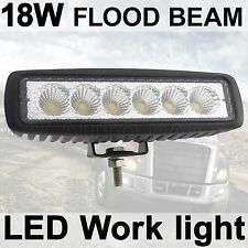 18W 6'' LED Flood Work Driving Light bar Rancher Razor RZR Snowmobile 4WD Honda