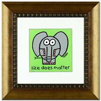 Todd Goldman Framed Size Does Matter Limited Edition Lithograph  Signed  COA
