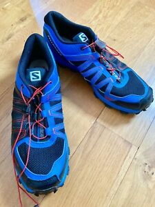 Older Boys / Men's Size 8 Salomon Trainers in Blue, worn once
