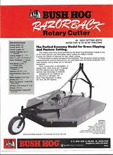 Original OEM Bush Hog Razorback Rotary Cutter Dealer Sales Brochure Spec Sheet