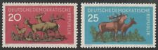 *1p SALE* Germany - East, 1959 Forest Animals Part Set of 2 SG E472-3 U/Mint MNH