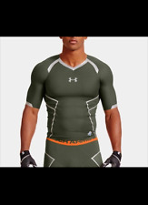 Under Armour Nfl Combine Authentic Green & Orange Compression Shirt Men's L
