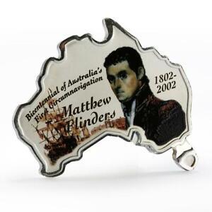 Uganda 5000 shillings Matthew Flinders proof silver coin 2002