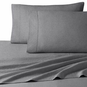 UGG Devon Garment Washed FULL Sheet Set in Charcoal