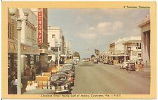 Cleveland Street Facing Gulf of Mexico in Clearwater FL Postcard