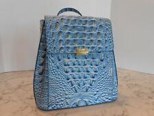 New BRAHMIN Margo Backpack Leather $295 CERULEAN MELBOURNE (SKY BLUE)