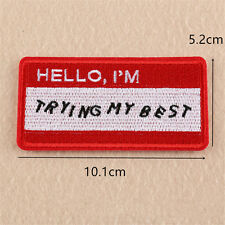Cute Red Embroidery Letters Sew & Iron On Fabric Patches Badge Clothes Appliques