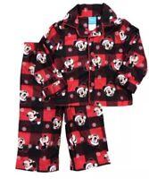 NEW Nwt Disney Mickey Mouse Boys Flannel Holiday Pajamas Sleep Set Sz: 4T