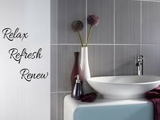 RELAX REFRESH RENEW Bathroom Bath Vinyl Wall Decal Words Lettering Sticker Decor