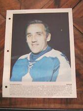 Dimanche Derniere Heure April 30 1978 - Jacques Plante - Canadiens, Leafs     ZQ