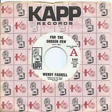 Wendy Farrell:For the chosen few/Tar and cement:US Kapp DJ:Popcorn