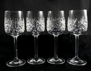 4 Stunning Edinburgh Lead Crystal Glasses small Sherry Liqueur Port  Berkeley