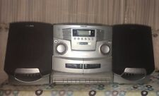 Sony Cfd-Zw755 Vintage Boombox Cd Radio Dual Cassette Recorder Pls Look Pictures