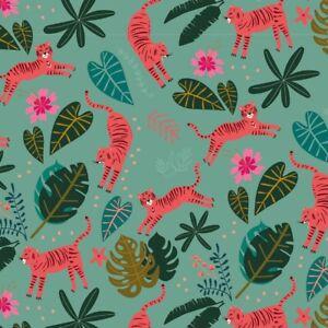 Fat Quarter Dashwood Studios Night Jungle 100% Cotton Fabric