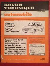 Revue Technique Automobile Talbot Samba - Volkswagen Polo et Passat Peugeot 305