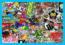 Sticker Bomb Sheet Bombing Decal Euro Drift Style Dub stickers skate R067