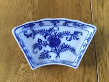 Villeroy Boch Onion Pattern Crescent Dish, Lazy Susan Section 1874-1909