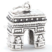 ARC DE TRIOMPHE Charm Pendant STERLING SILVER Paris France 3D TRAVEL 925
